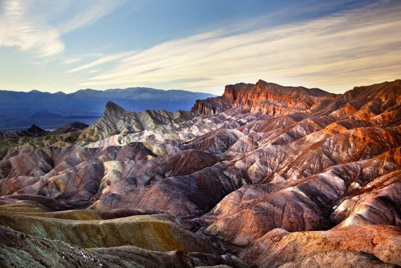Parque nacional de Death Valley do ponto de Zabruski fotografia de stock