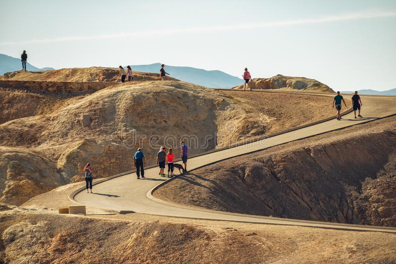 Parque nacional de Death Valley, punto de Zabriskie fotos de archivo libres de regalías