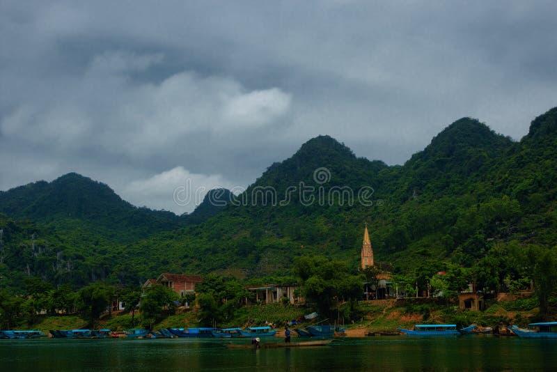 Parque nacional de explosión de Phong Nha KE fotografía de archivo