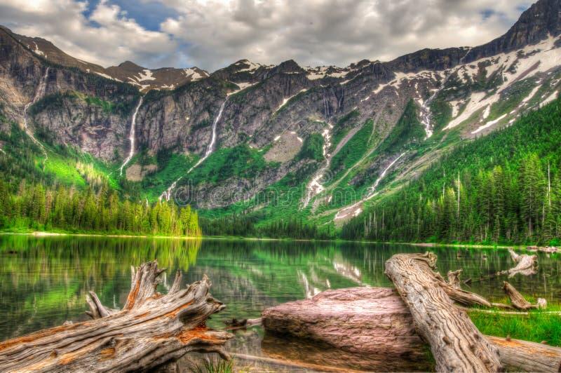 Parque nacional de geleira fotografia de stock royalty free
