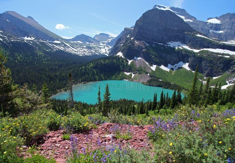 Parque nacional de geleira em Montana foto de stock