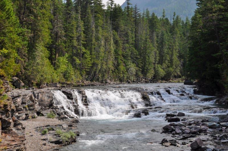 Parque nacional de geleira, Ir-à--sol-estrada, Montana, EUA fotos de stock royalty free