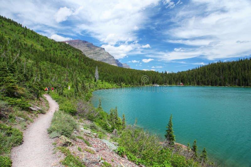 Parque nacional de glaciar en Montana imagen de archivo
