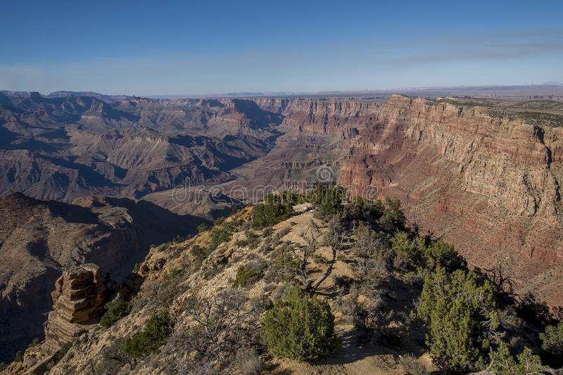Parque nacional de Grand Canyon da pedra calcária de Redwall, o Arizona imagens de stock