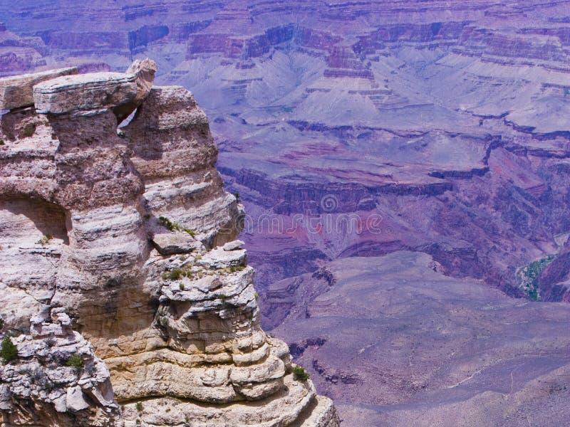 Parque nacional de Grand Canyon, puestas del sol en el barranco foto de archivo