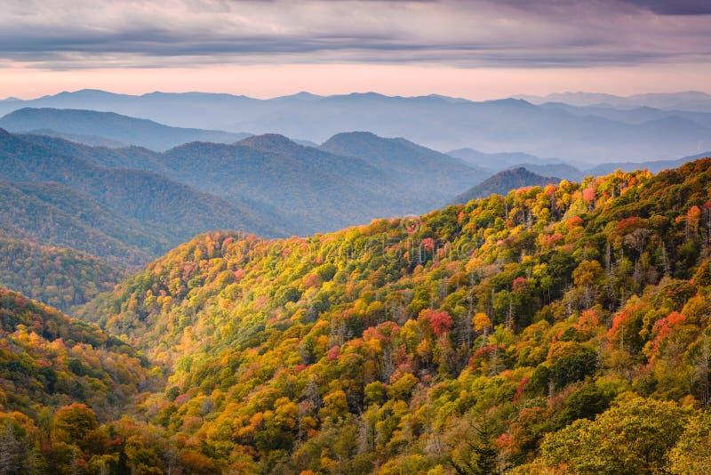Parque nacional de Great Smoky Mountains imagenes de archivo