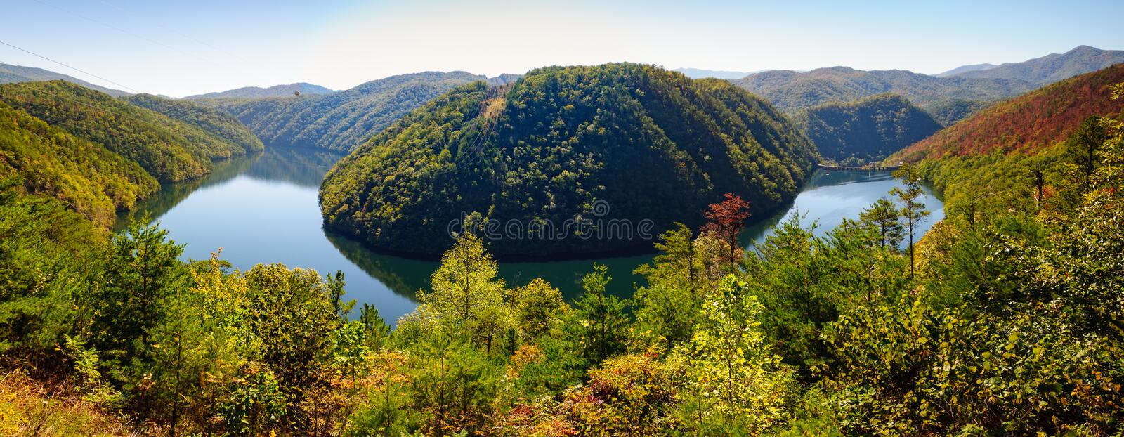 Parque nacional de Great Smoky Mountains do panorama, lago Calderwood fotografia de stock royalty free
