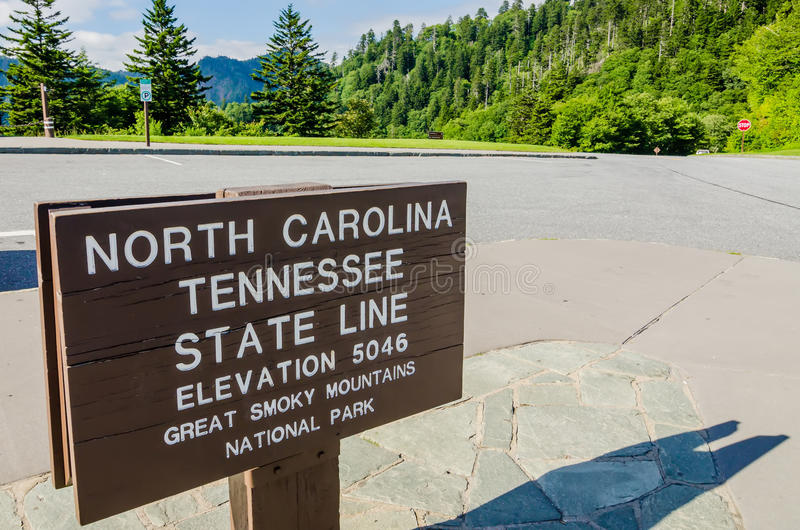 Parque nacional de Great Smoky Mountains em North Carolina tennessee foto de stock royalty free