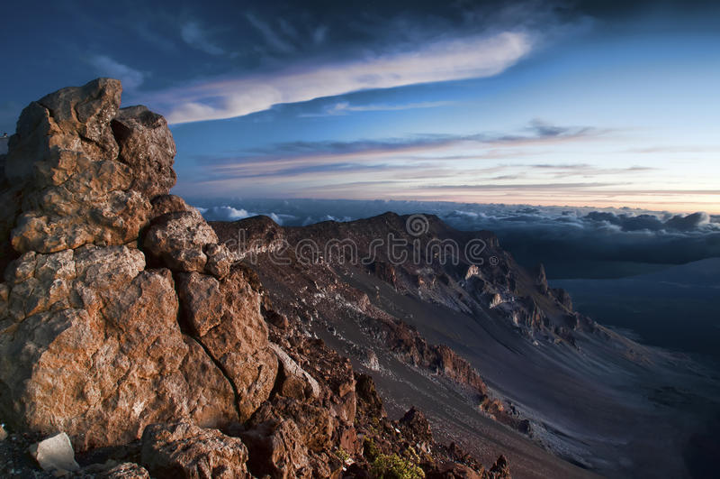Parque nacional de Haleakala vulcânico foto de stock royalty free