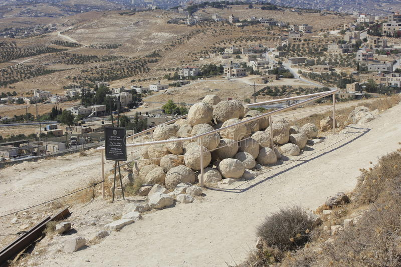 Parque nacional de Herodium em Israel fotografia de stock