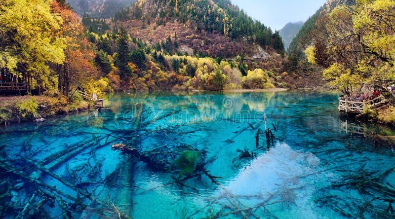 Parque nacional de Jiuzhaigou, Sichuan China fotos de archivo libres de regalías