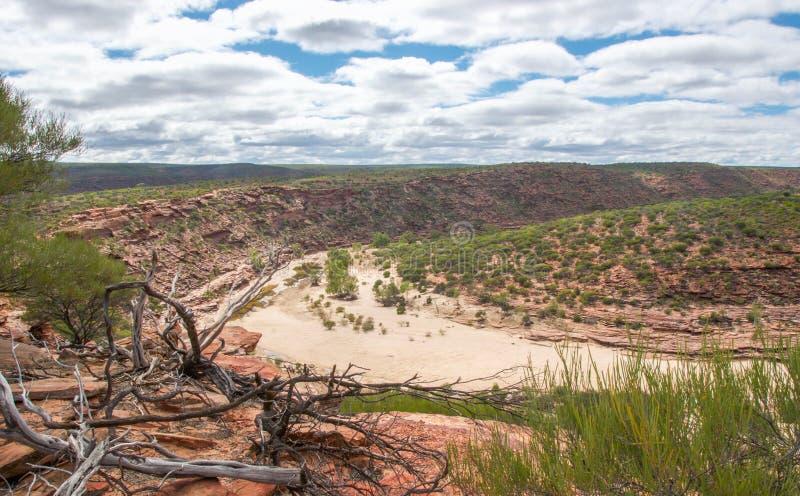 Parque nacional de Kalbarri: Garganta del río de Murchison fotografía de archivo libre de regalías