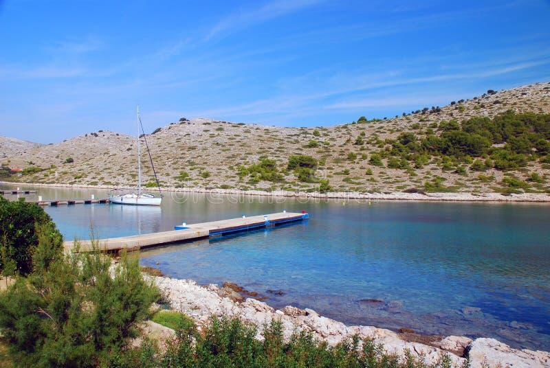 Parque nacional de Kornati en Croatia imagen de archivo