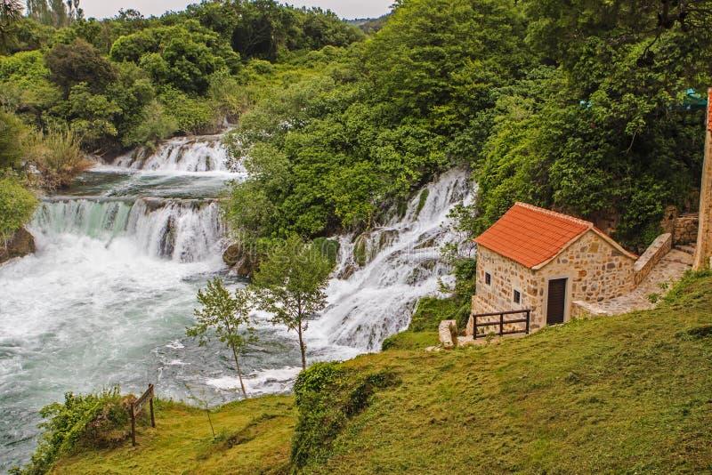 Parque nacional de Krka foto de archivo