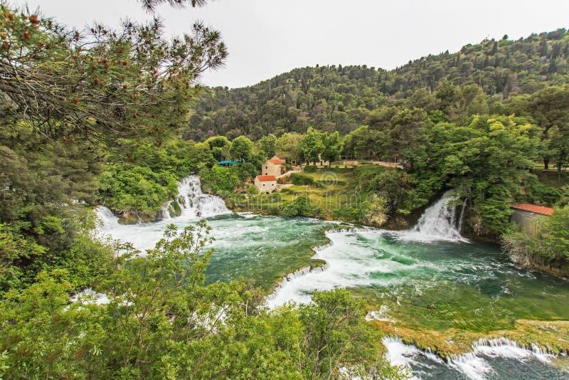 Parque nacional de Krka fotografía de archivo libre de regalías
