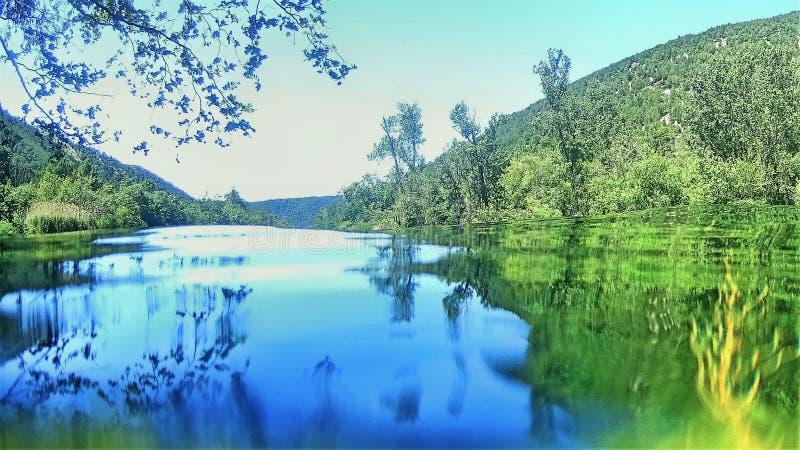 Parque nacional de Krka en Croacia imagenes de archivo
