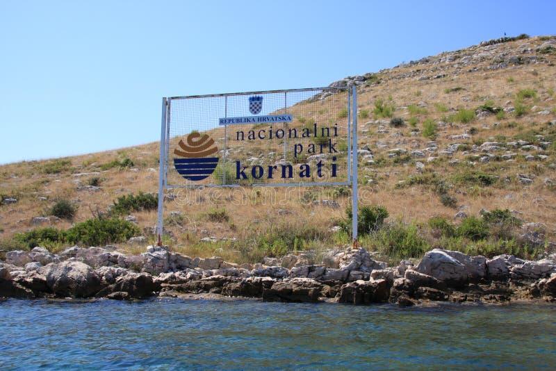 Parque nacional de la isla de Kornati, Croacia fotos de archivo