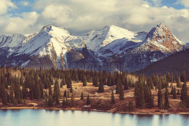 Parque nacional de la montaña rocosa fotos de archivo