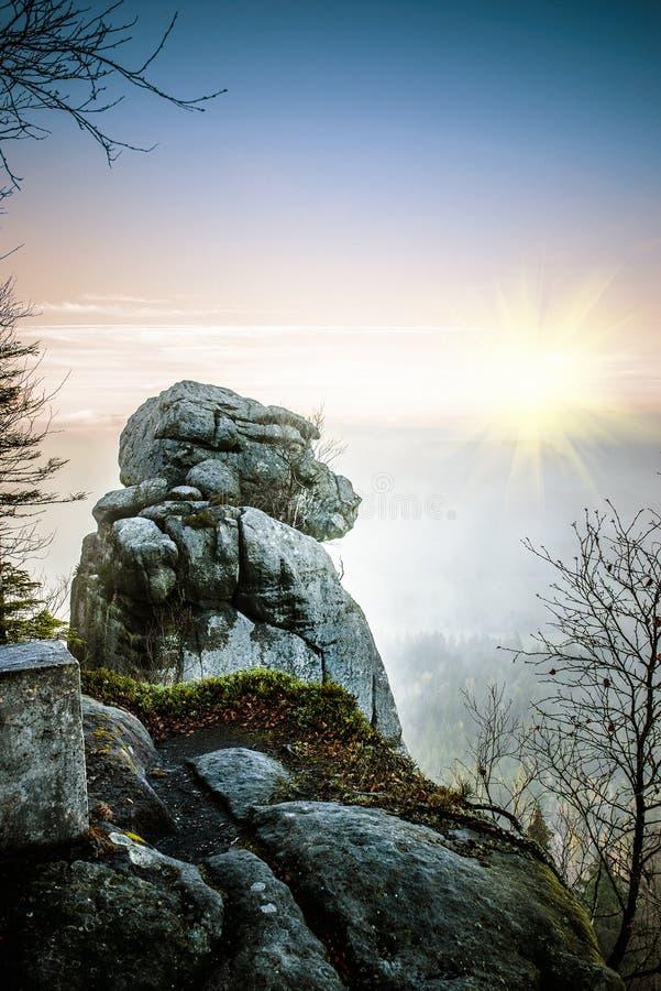 Parque nacional de las montañas de Stolowe imagenes de archivo