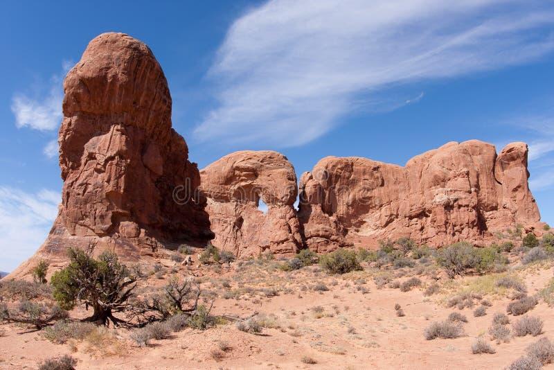 Parque nacional de los arcos foto de archivo