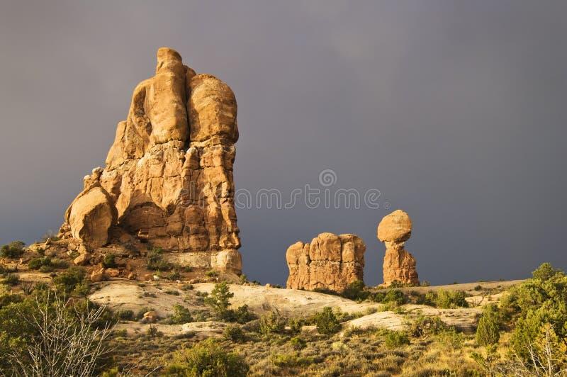Parque nacional de los arcos fotografía de archivo