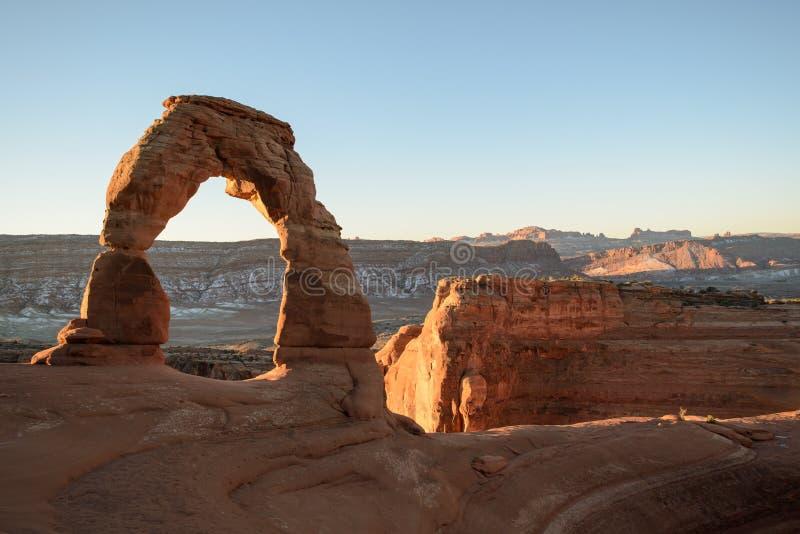 Parque nacional de los arcos - arco delicado imagenes de archivo
