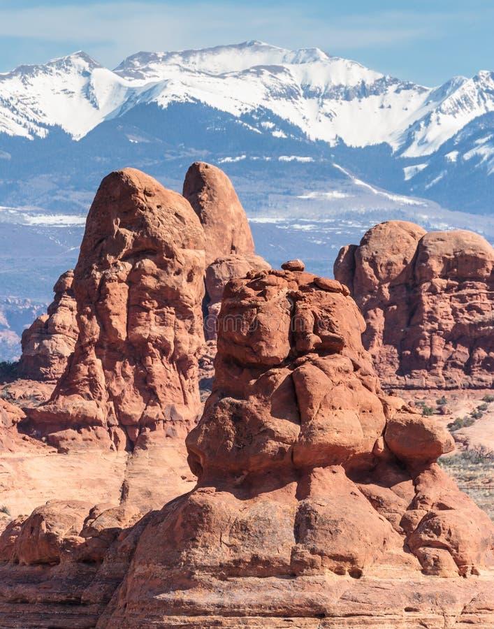 Parque nacional de los arcos - belleza escénica de Utah imagenes de archivo