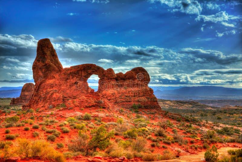 Parque nacional de los arcos en Moab Utah los E.E.U.U. foto de archivo