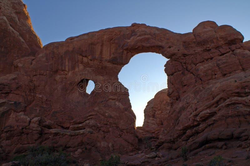 Parque nacional de los arcos en Utah, los E imágenes de archivo libres de regalías