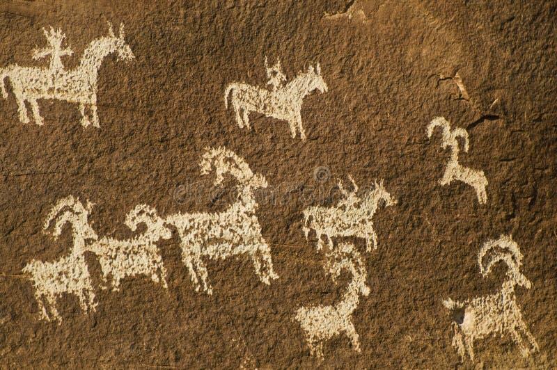 Parque nacional de los canyonlands del petroglifo imagen de archivo
