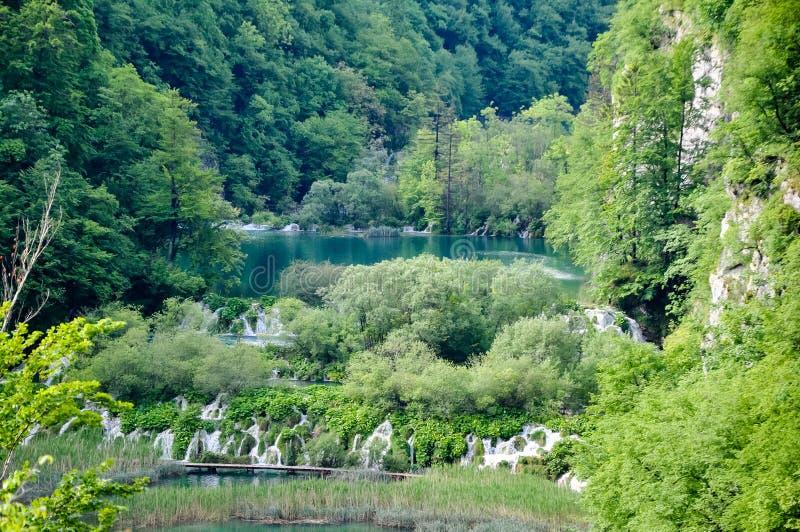 Parque nacional de los lagos hermosos Plitvice en Croacia fotos de archivo