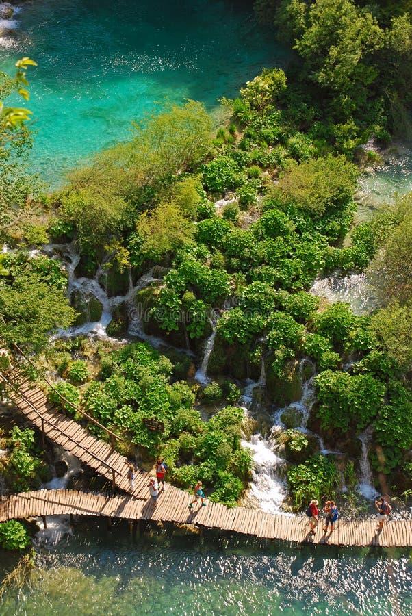 Parque nacional de los lagos Plitvice en Croacia imagenes de archivo