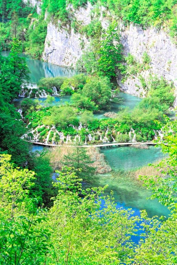 Parque nacional de los lagos Plitvice en Croatia imagen de archivo