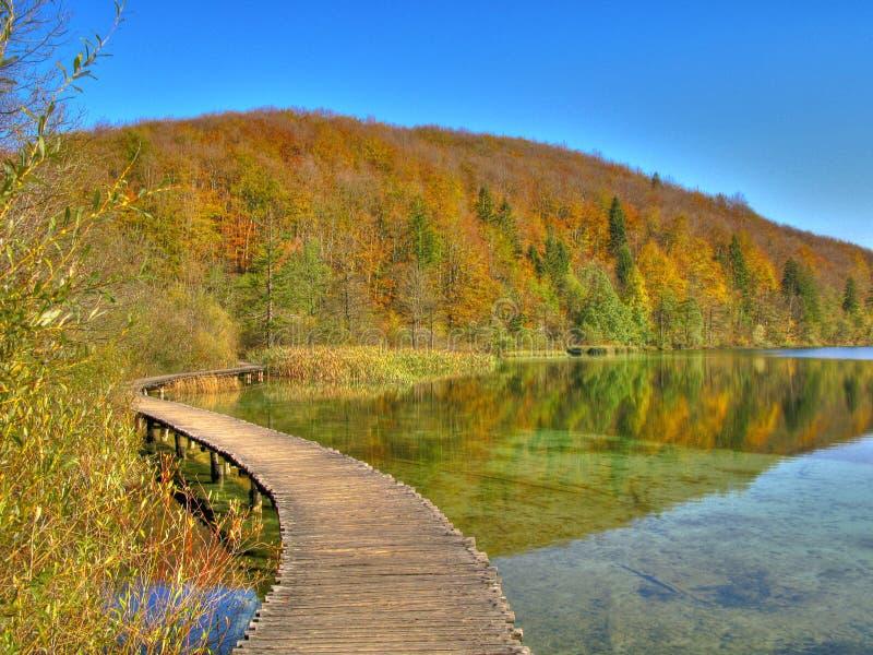 Parque nacional de los lagos Plitvice, Korenica, Croatia fotografía de archivo