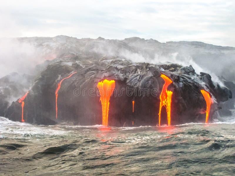 Parque nacional de los volcanes de Hawaii foto de archivo libre de regalías