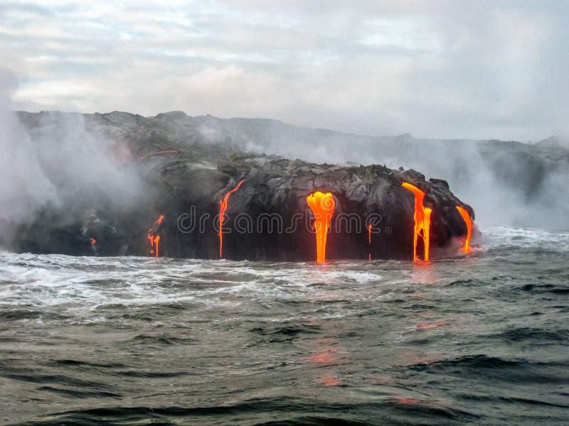 Parque nacional de los volcanes de Hawaii imagenes de archivo