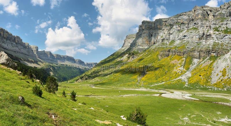 Parque nacional de Ordesa em Huesca, Espanha fotos de stock royalty free