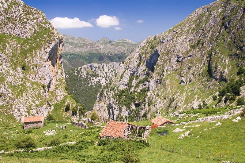 Parque nacional de Picos de Europa fotografia de stock