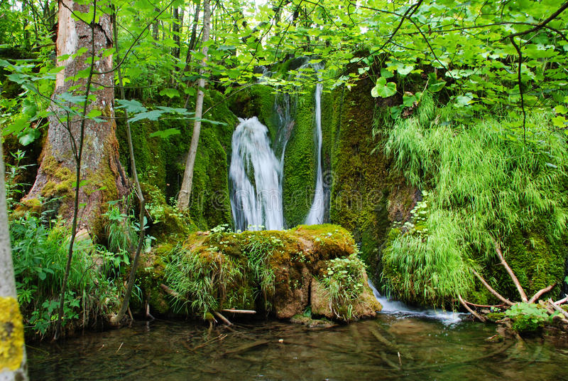 Parque nacional de Plitvice foto de archivo
