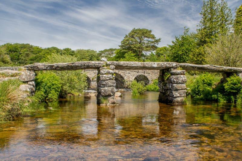Parque nacional de Postbridge Dartmoor imagens de stock
