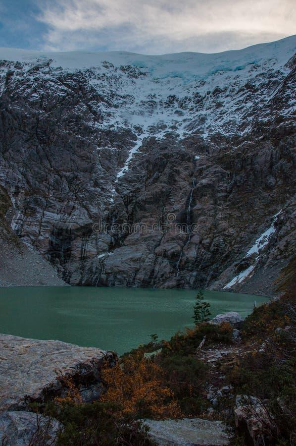 Parque Nacional de Queulat, Carretera austral, carretera 7, Chile foto de archivo