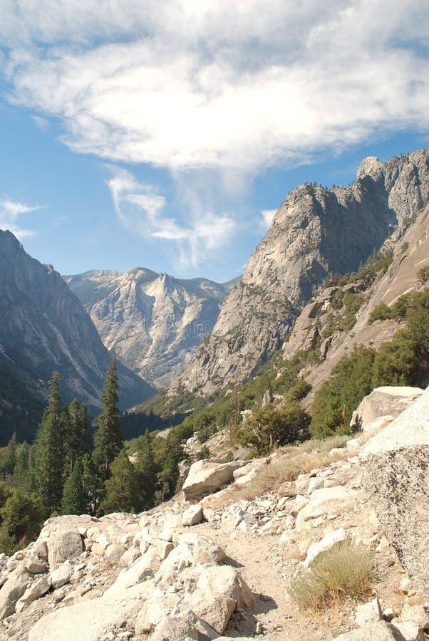 Parque nacional de reyes Canyon en California imagen de archivo