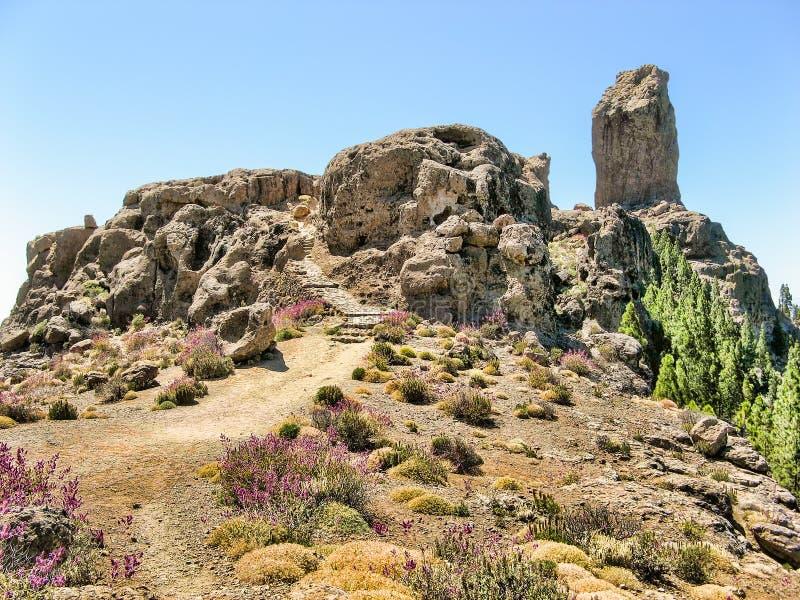 Parque nacional de Roque Nublo imagens de stock