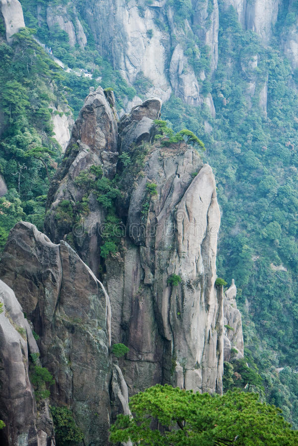 Parque nacional de Sanqingshan del montaje fotos de archivo libres de regalías