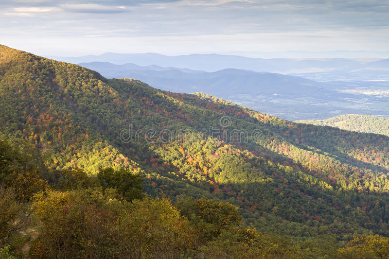 Parque nacional de Shenandoah no outono fotos de stock royalty free