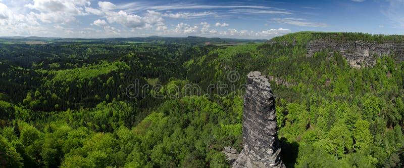 Parque nacional de Suíça boêmio, República Checa imagem de stock royalty free