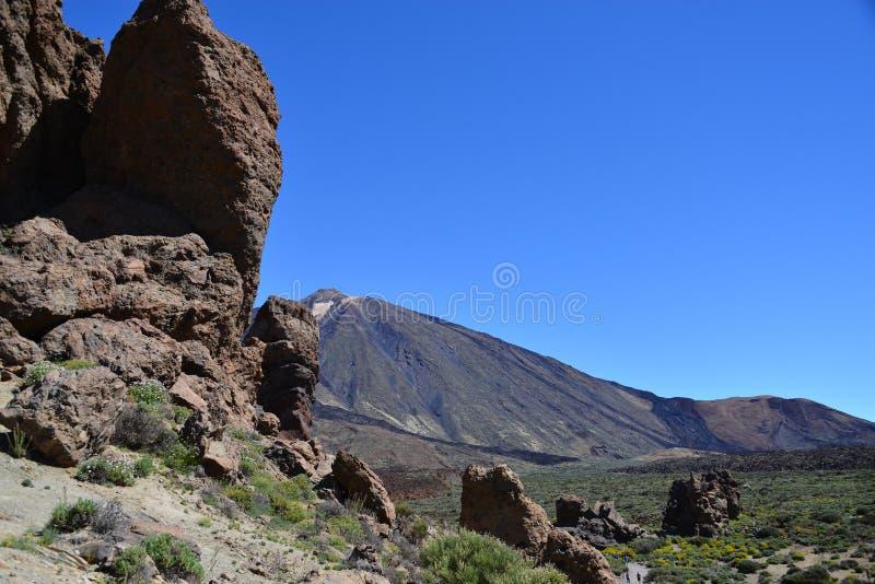 Parque nacional de Teide - tenerife - EL Teide do vulcão fotografia de stock