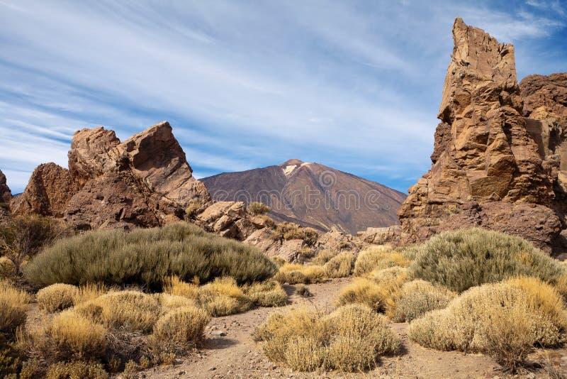 Parque nacional de Teide. Tenerife. Ilhas Canárias fotos de stock