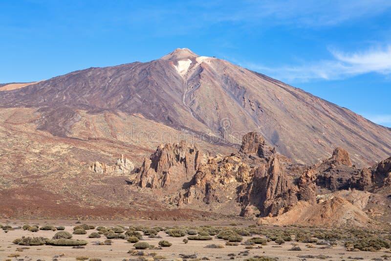 Parque nacional de Teide. Tenerife. Ilhas Canárias imagem de stock royalty free