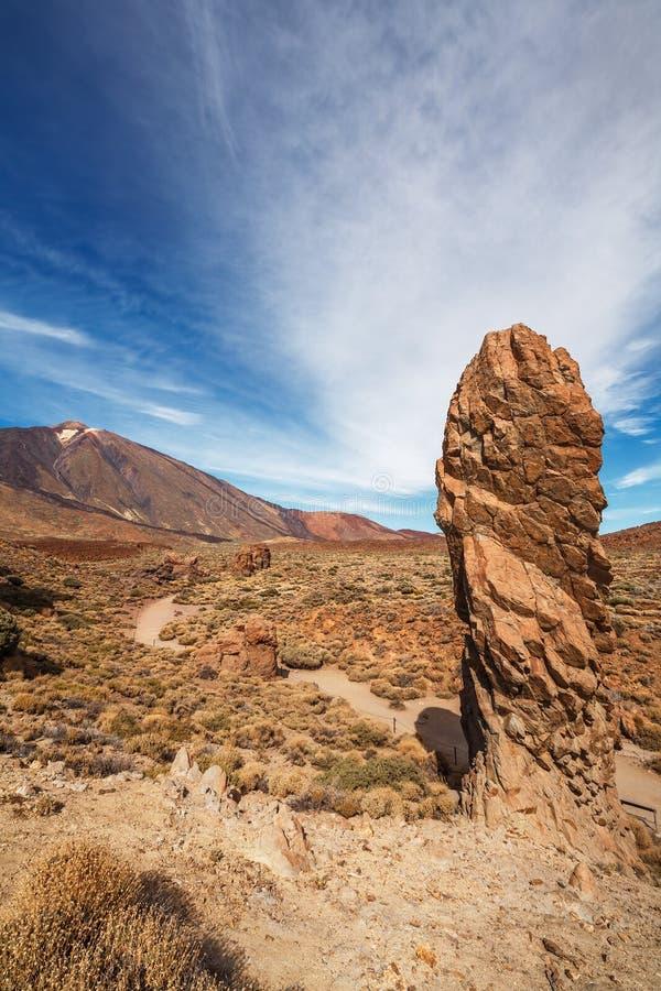 Parque nacional de Teide. Tenerife. Ilhas Canárias fotografia de stock